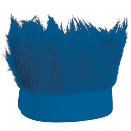 Costume+one (Beistle Hairy Headband, Blue)