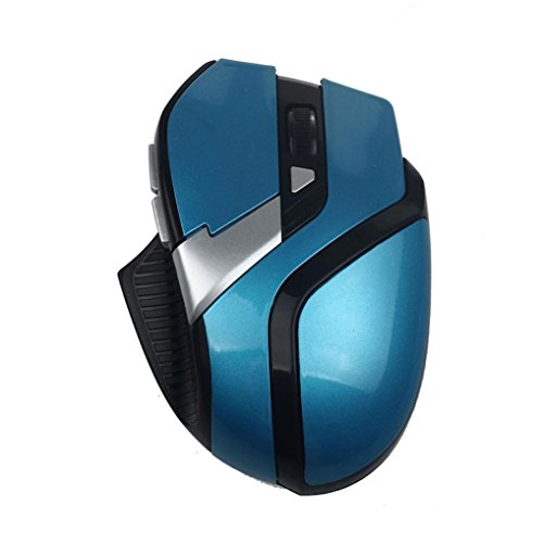 Price comparison product image Dreamyth Economical and Durable For PC Laptop 2.4GHz 6 Buttons Wireless Optical Adjustable Mouse Mice (Blue B)