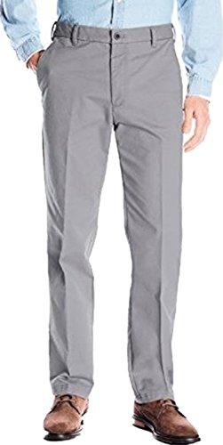 IZOD Men's Stretch Chino Pant (40W X 29L, Smoke - Mena Clothing