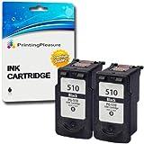 2 NERO Cartucce d'inchiostro compatibili per Canon Pixma iP2700, iP2702, MP230, MP235, MP240, MP250, MP252, MP260, MP270, MP272, MP280, MP282, MP480, MP490, MP492, MP495, MP499, MX320, MX330, MX340, MX350, MX360, MX410, MX420 / Sostituzione per PG-510 (PG510)
