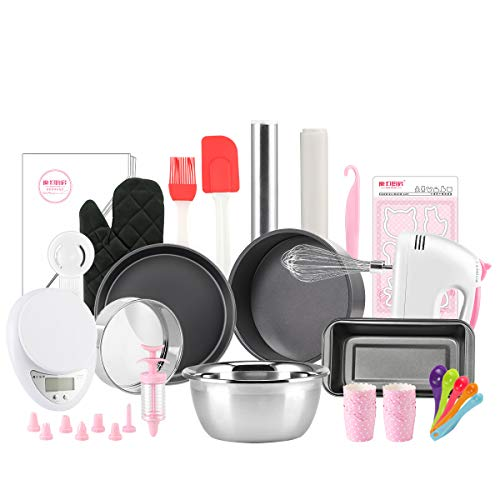 - Magic Kitchen Complete Cake Baking Set Bakery Tools for Beginner Adults Baking supplies bakeware sets baking tools Black