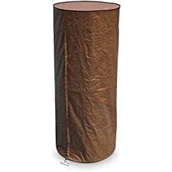 "Abba Patio Round Heater Cover Outdoor Waterproof, Brown, 36"" W x 75"" H"