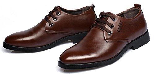 HYLM Negocio Casual Zapatos No Resbalón De Los Hombres De Talla Grande Los Zapatos / Zapatos De Encaje / Zapatos De Boda brown tie ups