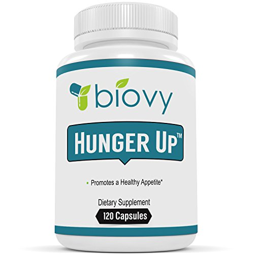 HUNGER UP™ - Best Appetite Stimulant by Biovy (with No Magnesium Stearate) - Effective Weight Gain Pills Including Fenugreek extract To Increase Appetite & Gain Weight In All The Right ()