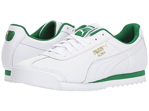 [PUMA(プーマ)] メンズランニングシューズ?スニーカー?靴 Roma Classic Puma White/Amazon Green 8.5 (26.5cm) D - Medium