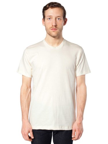 American Apparel Men's Organic Fine Jersey Short-Sleeve T-Shirt, Natural-Medium