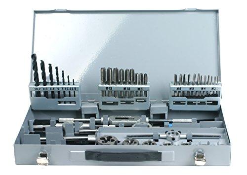 PROFI Gewindeschneidsatz 45 teilig, HSSG, M3-M12, Gewindeschneider, Schneideisen, Kernlochbohrer