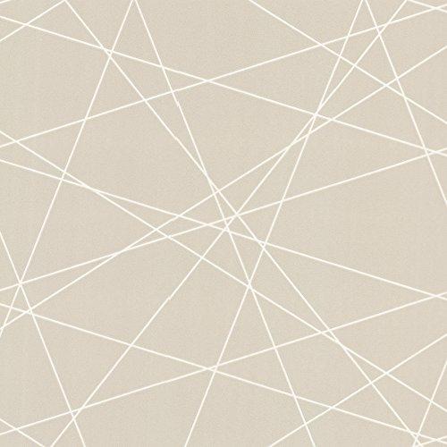 Decorline 2533-20249 Magritte Criss Cross Geo Wallpaper, Beige ()