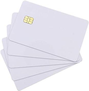 100 PVC Chipkarten weiß mit SLE5542 Chip