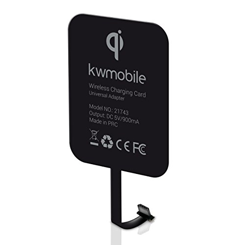 kwmobile Universal Wireless Qi Charing Receiver Card for smartphones with MicroUSB connector