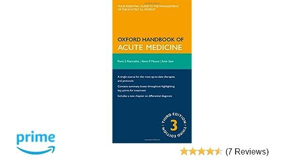 Oxford handbook of acute medicine oxford medical handbooks oxford handbook of acute medicine oxford medical handbooks 9780199230921 medicine health science books amazon fandeluxe Gallery