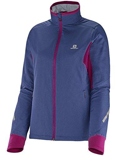 Salomon Escape Cross Country Ski Jacket Abyss Blue/Mystic Purple Womens Sz M