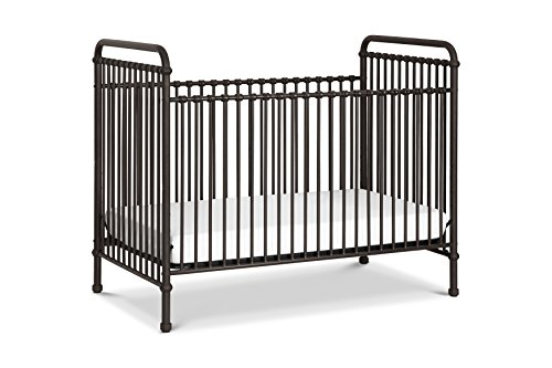 1 Iron Crib - Million Dollar Baby Classic Abigail 3 in 1 Convertible Crib, Vintage Iron