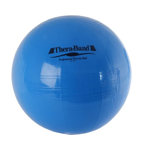 (TheraBand Exercise Ball, Stability Ball, 75 cm Diameter for Athletes 6'2