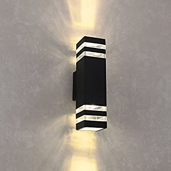 Outdoor wall sconce housen solutions waterproof porch light naturous wlb191 led wall sconce waterproof cylinder porch light modern wall lamp updown aloadofball Choice Image