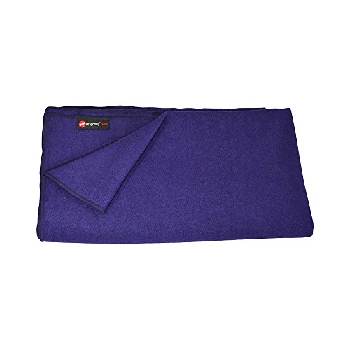 Dragonfly Yoga Wool Blanket, Purple