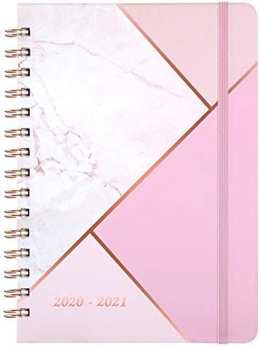 Kalender 2020 2021 - A5 Wochenplaner von Juli 2020 bis Juni 2021, 15x21cm Lebensplaner, Pink