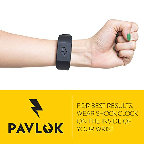 Pavlok Shock Clock Wake Up Trainer with Additional Silicone Band (White) and Exclusive Habit Change eBook - Wearable Smart Alarm Clock - Never Hit Snooze Again by Pavlok (Image #5)
