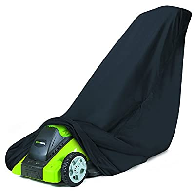 Classic Accessories 73117-GW20 Walk Behind Lawn Mower Cover For Greenworks 20-Inch Mowers