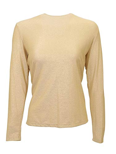 (Long Sleeve Sparkle Shell S Gold)