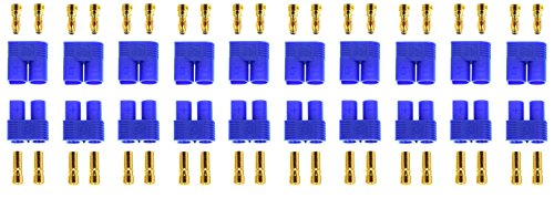 Apex RC Products 10 Male / Female EC3 Battery Connector Plugs - 10 Pairs #1525