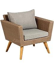 Kave Home - Sumie stoel van rotan en stalen frame voor buiten