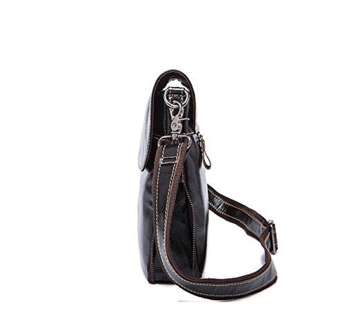 Hombro De Cera Messenger Regalo De Cuero Pack Negocios Bolso De Cuero Navidad De De Aceite De Black1 De Bolso Hombres Bag xCwnqF61vz