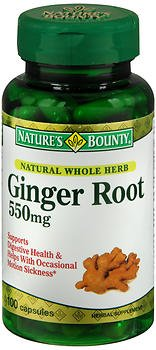 Nature's Bounty Ginger Root 550 mg Herbal Supplement -100 Capsules, Pack of 6 by Nature's Bounty