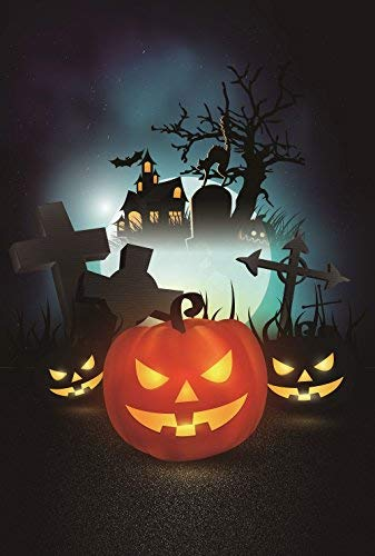 Happy Halloween House Pumpkin Garden Flag 12.5 x 18 Two Sided Fall Yard Decoration
