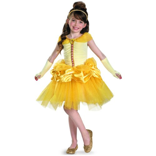 [Disguise Disney Beauty and The Beast Belle Tutu Prestige Girls Costume, 4-6X] (The Beast Baby Costume)