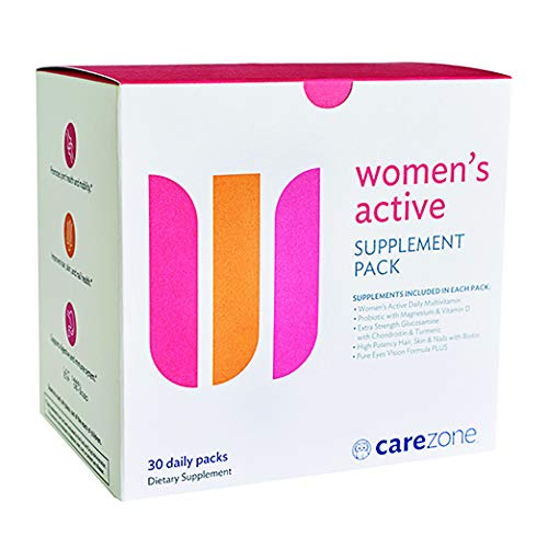 Daily Vitamin Packs - CareZone Women's Active Daily Vitamin & Supplement Packs - 30 Count