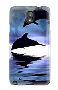 Excellent Design Dolphins Phone Case For Galaxy Note 3 Premium Tpu Case