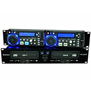 Omnitronic XDP-2800 - Reproductor de CD / MP3 doble (2 puertos USB 2.0, 2 lectores SD), color negro [Importado de Alemania]