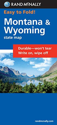 Easy To Fold: Montana, Wyoming (Rand McNally Easyfinder)