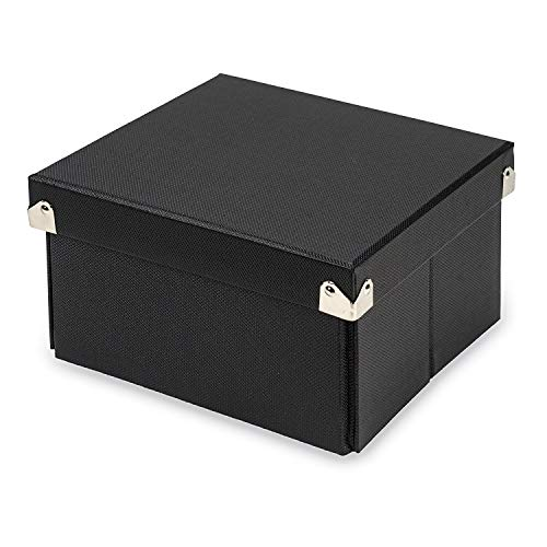 Samsill Pop n' Store Decorative Storage Box with Lid, Collapsible and Stackable, Small 7 Inch Square Box, Interior Size (7