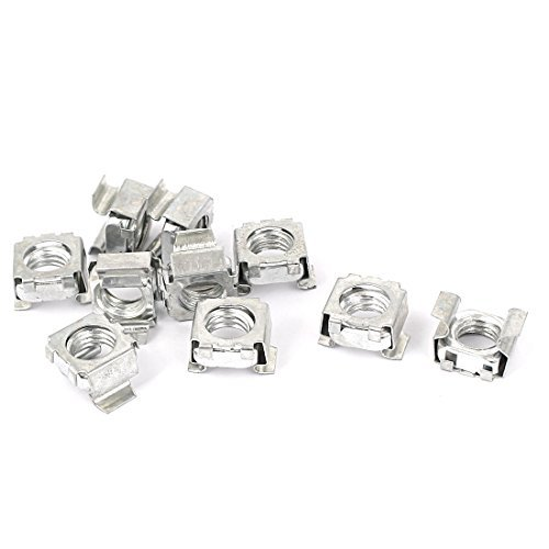 DealMux M10 x 1.5mm Zinc Plated Cage Nuts 10 Pcs for Server Rack Cabinet Computer Case