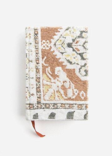 """Printfresh Pastel Tapestry Sm Velvet Journal - 4"""" x (Walnut Notepad)"""