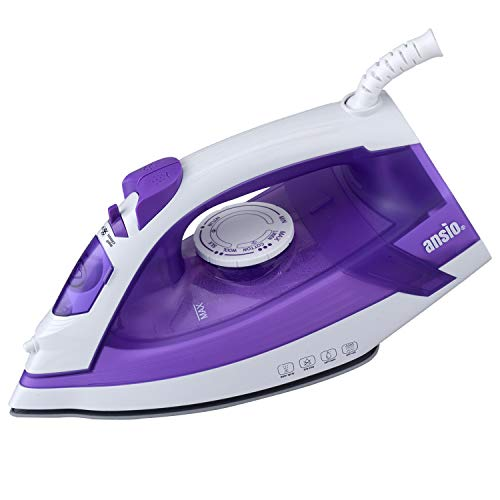 ANSIO Steam Iron Ceramic Soleplate with 2 m power cord