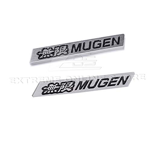 Extreme Online Store 2Pcs JDM Mugen Black Emblems Decal Sticker Badge 3D Car for Honda Civic Acurea Integra (Jdm Honda Stickers)