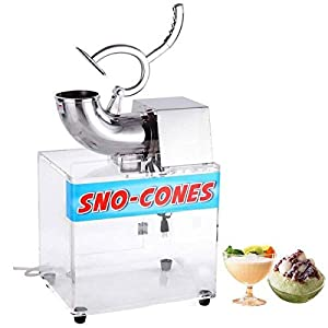 Koval Inc. Electric Snow Cone Maker Ice Shaver Machine Acrylic Box