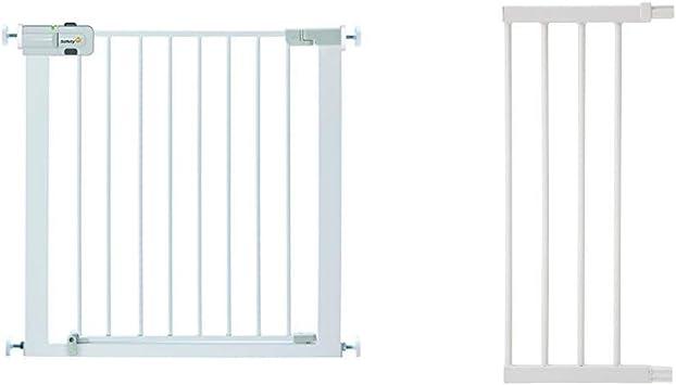 porta di sicurezza 80 cm fino a 136 cm con prolunghe cani Safety 1st Easy Close Barriera di sicurezza in metallo per porte e scale barriera per bambini nero