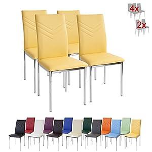 Albatros 2945 Verona Set de 4 sillas de Comedor, Amarillo 41zKV3bryuL