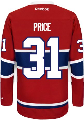 Carey Price Montreal Canadiens Reebok Premier Home Jersey NHL Replica