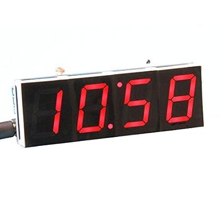 Ils - Kit de Reloj Digital de DIY Control Industrial de Control de Luz 1 Pulgadas Kit Electróico LED: Amazon.es: Electrónica