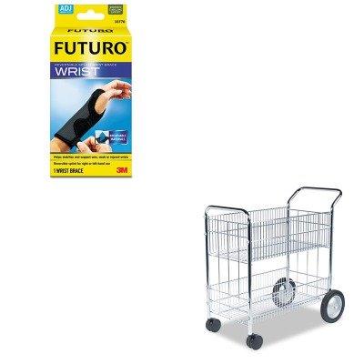 KITFEL40912MMM10770EN - Value Kit - Fellowes Wire Mail Cart (FEL40912) and Futuro Adjustable Reversible Splint Wrist Brace (MMM10770EN) by Fellowes