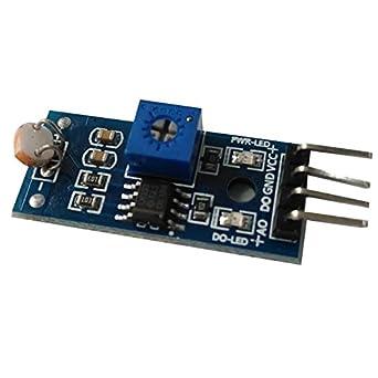 Módulo detector de luz con salida digital sensor Intensidad de luz fotodetector LDR para Arduino y Raspberry Pi: Amazon.es: Industria, empresas y ciencia