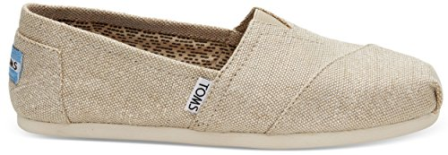 Toms Classic Natural Metallic Donna Burlap Espadrillas Scarpe Slipons