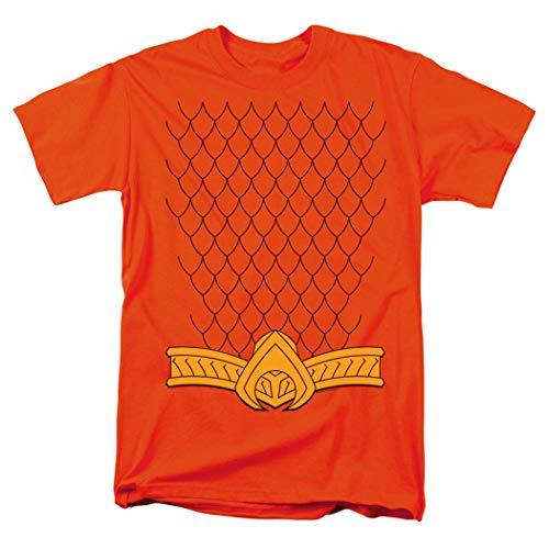 Popfunk Aquaman Scales Belt Logo T Shirt & Exclusive Stickers (X-Large) Orange]()
