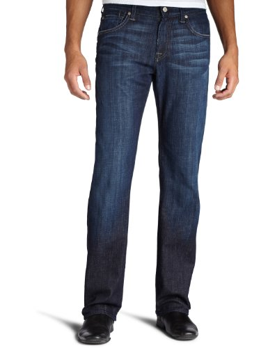 7 For All Mankind Men's Austyn Relaxed Straight-Leg Jean in Los Angeles Dark, Los Angeles Dark, 34x32 (Leg For Seven All Mankind Straight)