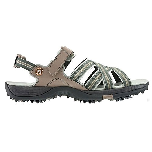 FootJoy Women's Specialty Cleated Golf Sandals (8, Tan-M)